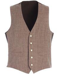 Lardini Single-breasted Waistcoat - Brown