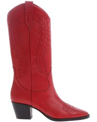 Paris Texas - Red Leather Boots - Lyst