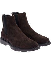 Hogan - Route - H304 Ankle Boots - Lyst