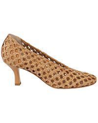 Casadei Woven Leather Court Shoes - Natural