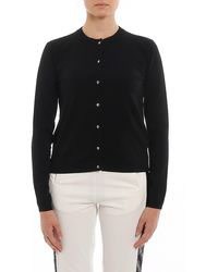 Twin Set Crew Neck Cardigan With Jewel Buttons - Black