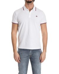 Moncler - Polo in cotone - Lyst