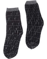 Fendi Ff Motif Socks - Black