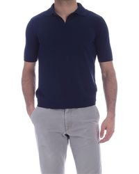 Ballantyne Single Button Polo Shirt - Blue