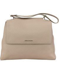 Orciani Sveva Soft Leather Medium Bag - Natural