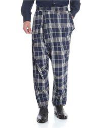 Vivienne Westwood Blue Check Wool Pants