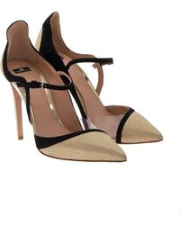 Elisabetta Franchi - Leather Court Shoes - Lyst