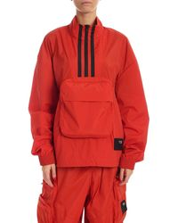 Y-3 Logo Patch Jacket - Red