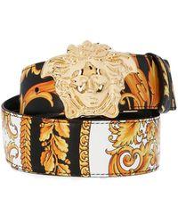 Versace - Heritage Reversible Multicolor Belt - Lyst