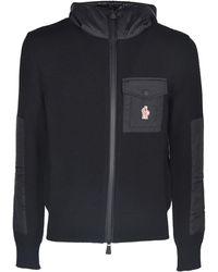 3 MONCLER GRENOBLE Chest Pocket Cardigan - Black