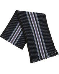 Paul Smith Sciarpa nera con motivo Goji Stripe - Nero