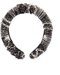 Missoni Knit And Sequins Headband - Black