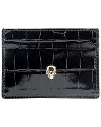 Alexander McQueen Skull Card Holder - Black