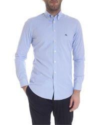 ab1be9b800 Camicia button-down azzurra e bianca - Blu