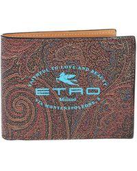 Etro Portafoglio Paisley con stampa logo - Multicolore