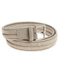Orciani - Grey Braided Leather Belt - Lyst