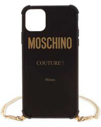 Moschino Cover Nera Per Iphone 11 Pro Max Con Logo - Nero
