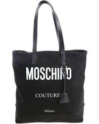 Moschino Black Fabric Shopper With Logo