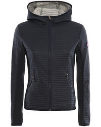 Colmar Quilted Tech Fabric Hooded Jacket - Blue