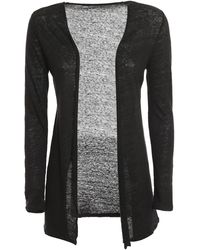 Majestic Filatures Linen Cardigan - Black