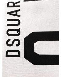 DSquared² Icon Beach Towel - White