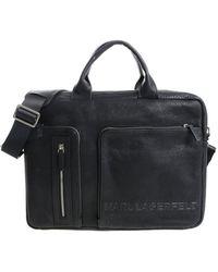 Karl Lagerfeld Black Bag With 3d Logo