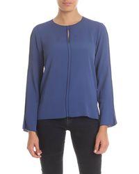 Her Shirt Aiden Blouse - Blue
