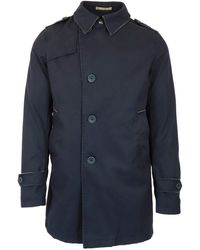Herno Cotton Peacoat - Blue