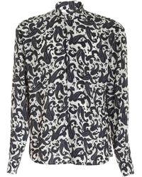 Laneus - Black Paisley Print Shirt - Lyst