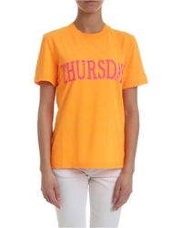 Alberta Ferretti Rainbow Week Thursday T-shirt In Orange