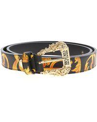 Versace Baroque Print Belt - Black