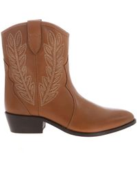 Twin Set Texan Ankle Boot - Brown