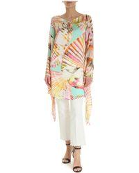 Blumarine Multicolour Silk Kaftan