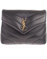Saint Laurent Toy Loulou Matelassé Leather Crossbody Bag - Black