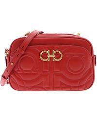 f9a14db31fe4 Ferragamo - Gancini Crossbody Bag In Red - Lyst
