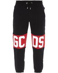 Gcds Joggers Con Logo Lettering Nero