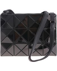 Bao Bao Issey Miyake - Soft Black Shoulder Bag With Squares And Triangles - Lyst