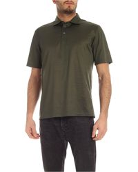 Ballantyne Cotton Satin Polo Shirt - Green