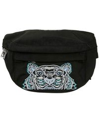 KENZO Canvas Kampus Tiger Bumbag - Black
