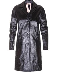 N°21 Faux Leather Coat - Black