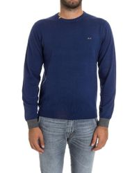 Sun 68 - Wool And Cotton Sweater - Lyst