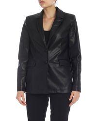 be Blumarine Eco Leather Blazer - Black