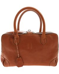 Golden Goose Deluxe Brand Tan Leather Handbag With Charm - Brown