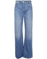 Paco Rabanne Washed Denim Flared Jeans - Blue