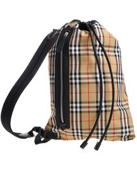 """Burberry Checked Printed """"duffle"""" Bag - Natural"""