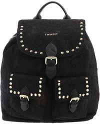 2802cb8120cb MICHAEL Michael Kors Rhea Lace Medium Leather Backpack in Black - Lyst