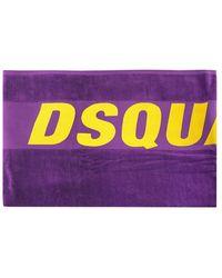 DSquared² Branded Beach Towel - Purple