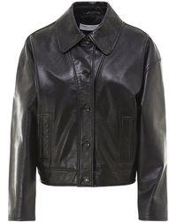 Philosophy Di Lorenzo Serafini Smooth Leather Jacket - Black