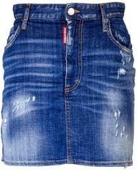 DSquared² Dalma Logo Miniskirt - Blue