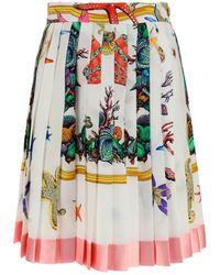 Versace - Trèsor De La Mer Print Skirt - Lyst